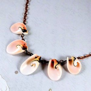 Pink Shell Copper Necklace